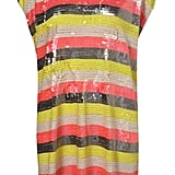 This striped tunic would look great on its own, or with black tights and ankle booties come evening.  Topshop Sequin Stripe Tunic ($360)