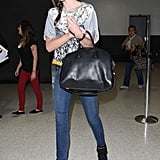 Miranda Kerr arrived at LAX.