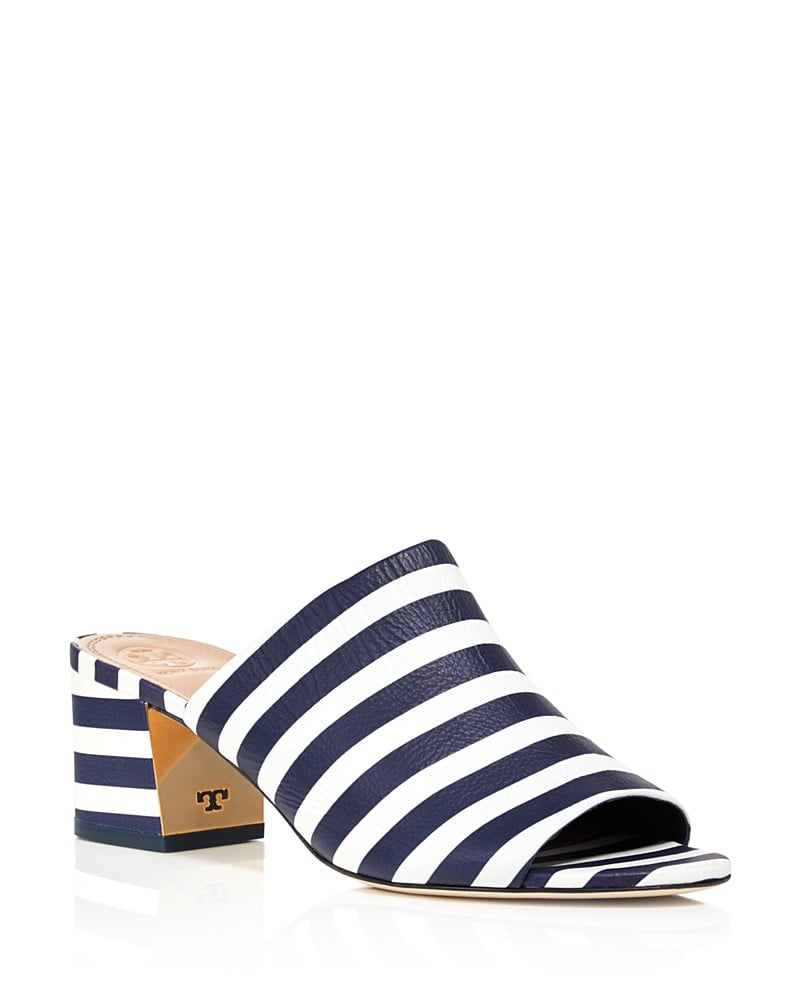 If she's been dying for a pair of mules, she'll love the classic quality of Tory Burch's Salinas Striped Sandals ($325).