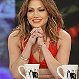 Jennifer Lopez Orange Lipstick