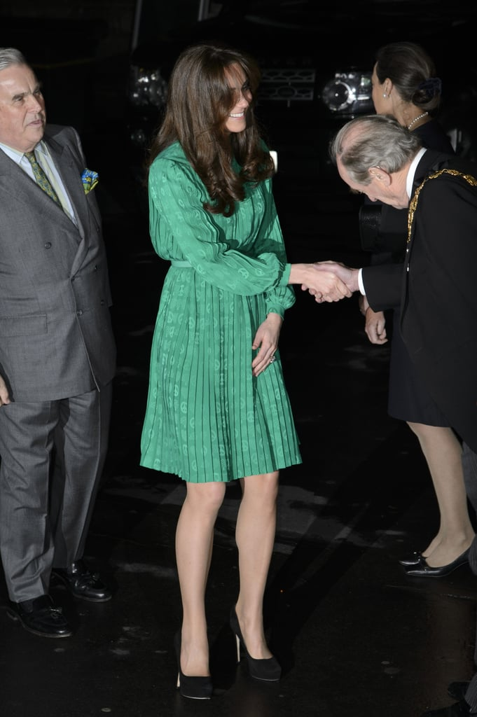 Kate Middleton stepped out in green for an event at the Natural History Museum in London.