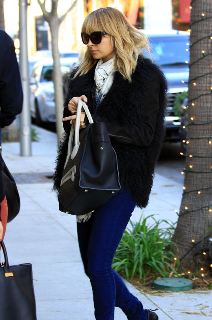 Nicole Richie did holiday shopping.