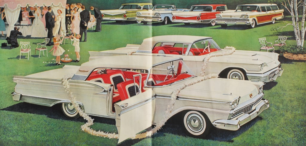 Who Knew You Could Use Cars As Wedding Decor Vintage Wedding Ads