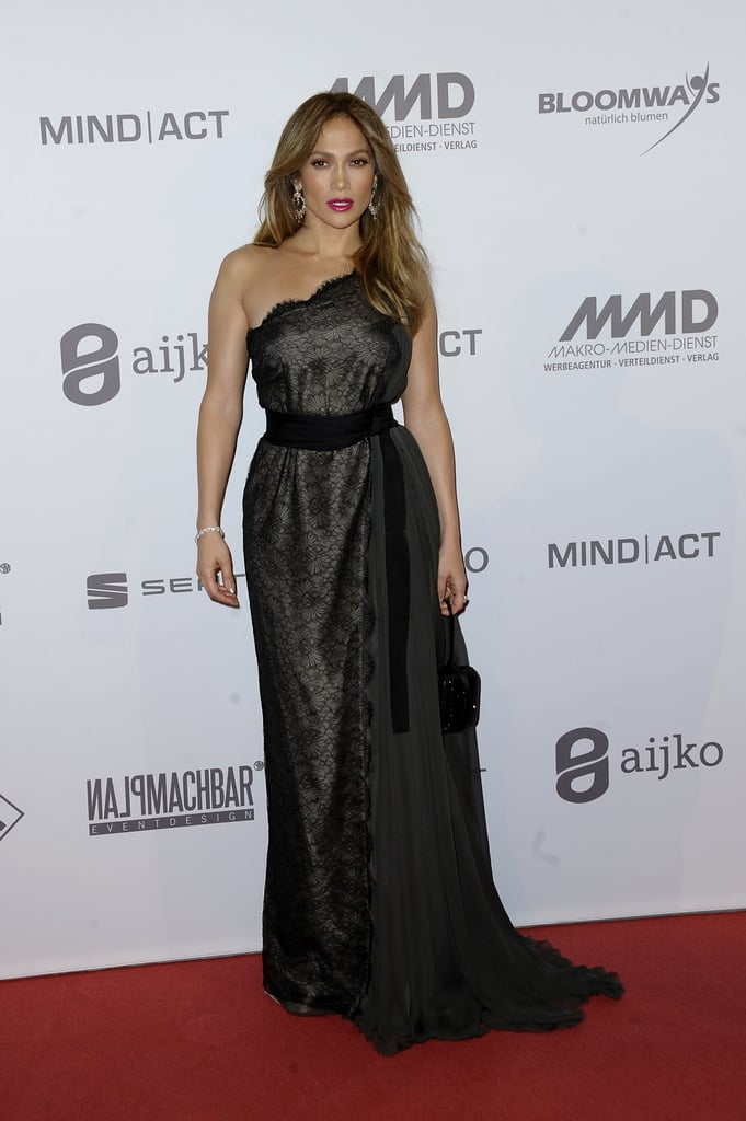 Jennifer Lopez wore a lace black gown for the UNESCO Charity Gala in ...