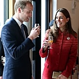 In May, Will and Kate cracked up during a whiskey tasting at The Famous Grouse Distillery in Crieff, Scotland.