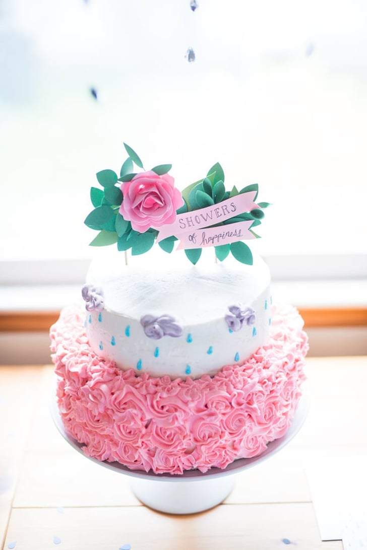ZEBRA PRINT HOT PINK DOTS BIG DIAPER CAKE GIRL BABY SHOWER CENTERPIECE
