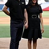 June: Meghan joined Harry for Boston Red Sox vs New York Yankees baseball game at London Stadium.