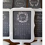 Lemonade Paperie Chalkboard Calendar With Pedestal Frame