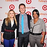 Kristen Bell and Nia Long posed with Zachary Abel.