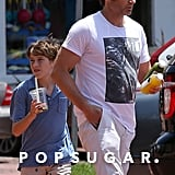 David Duchovny and his son, Kyd, grabbed a drink in Malibu on Sunday.