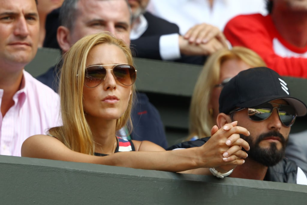 Jelena Ristic watched her boyfriend Novak Djokovic in the men's final on July 7.