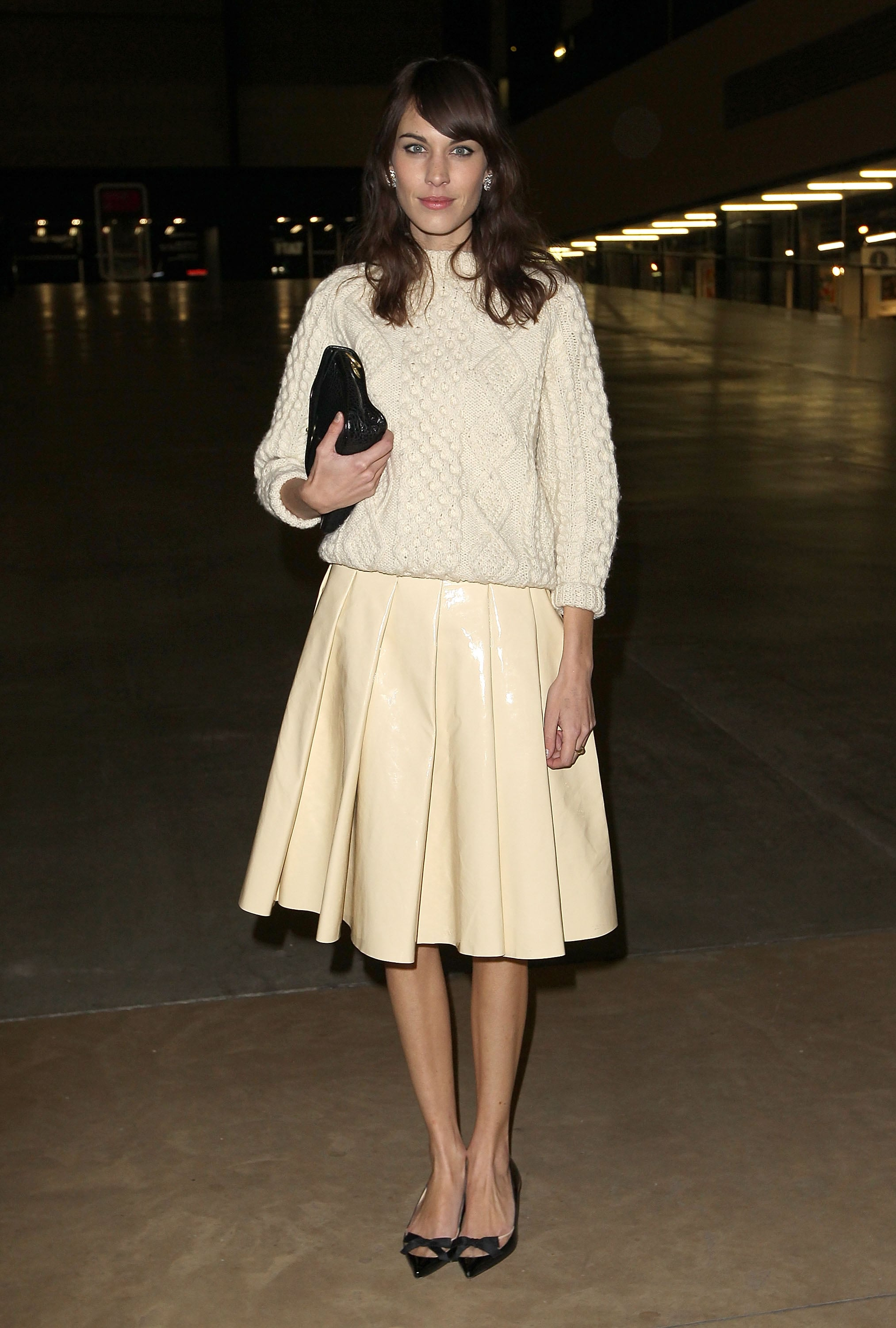 Alexa Chung at the J.W. Anderson Fall 2013 show in London.