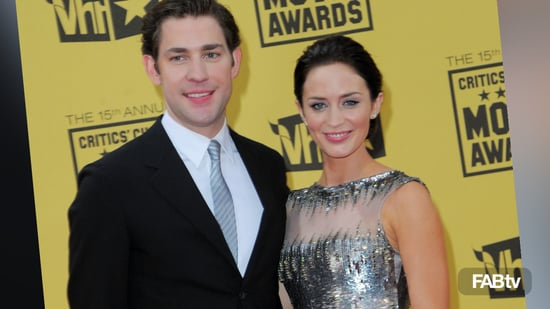 emily blunt silver dress, critics choice fashion, emily blunt and john krasinski, emily blunt designer gown critics choice 2010-01-16 17:54:09