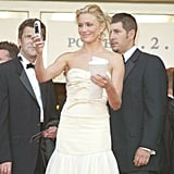 Cameron Diaz captured the crowd on her way into the 2004 premiere of Shrek.