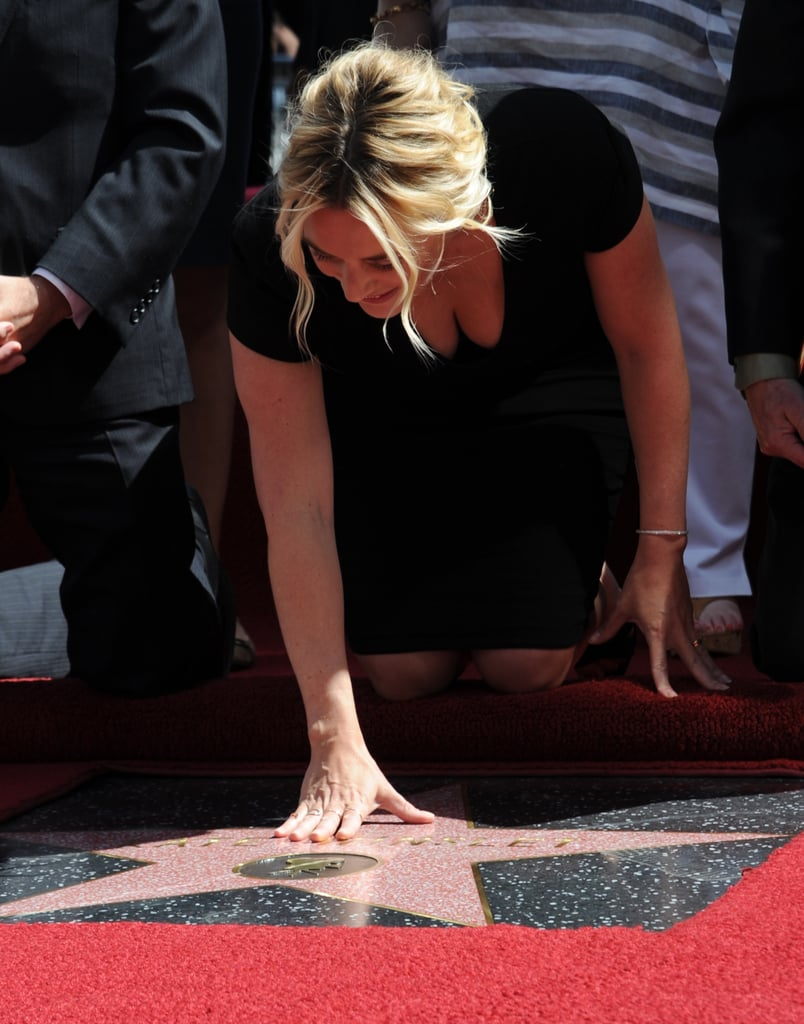 Kate Winslet Gets Her Hollywood Star With Tons of Support