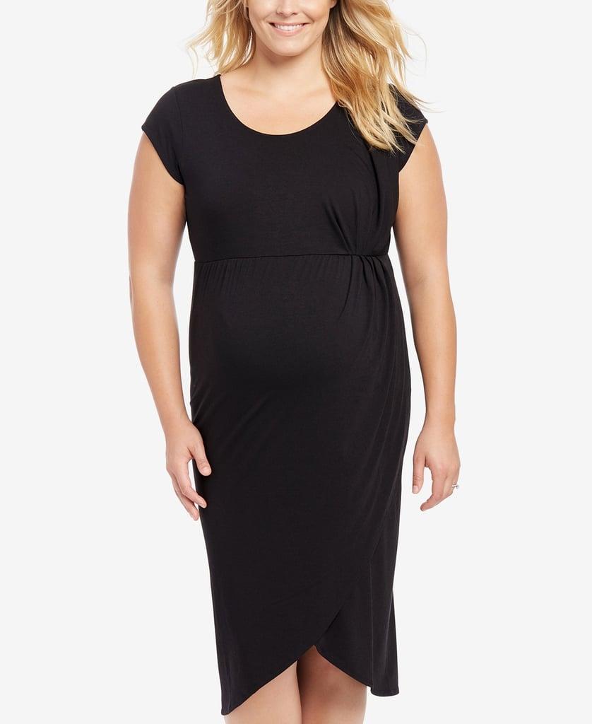 Cap sleeve uneven hem dress plus size maternity dresses cap sleeve uneven hem dress ombrellifo Choice Image