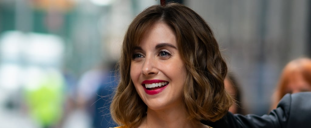 Alison Brie's Side Bangs Hairstyle
