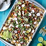 Sheet Pan Green Chile Beef Nachos