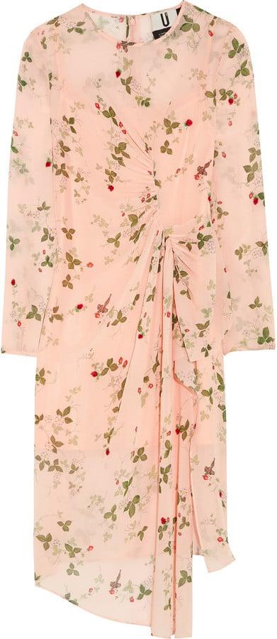 Topshop Unique Hortensia Gathered Printed Silk Dress (£255)