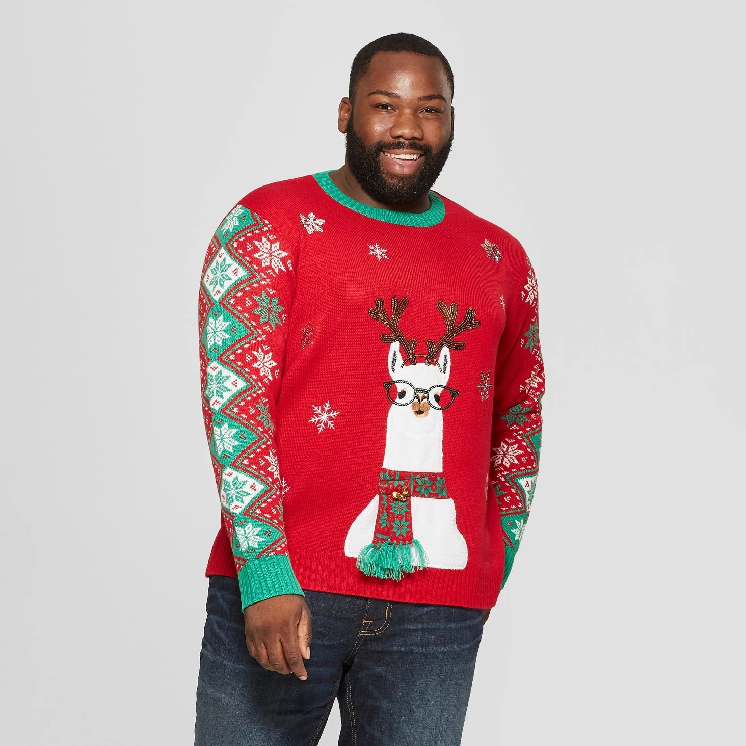 Adult Plus Size Llama Family Ugly Christmas Sweater Target Is Selling The Best Ugly Sweaters We Ve Seen And We Re Pretty Sure That S A Wasted Santa Right There Popsugar Family Photo