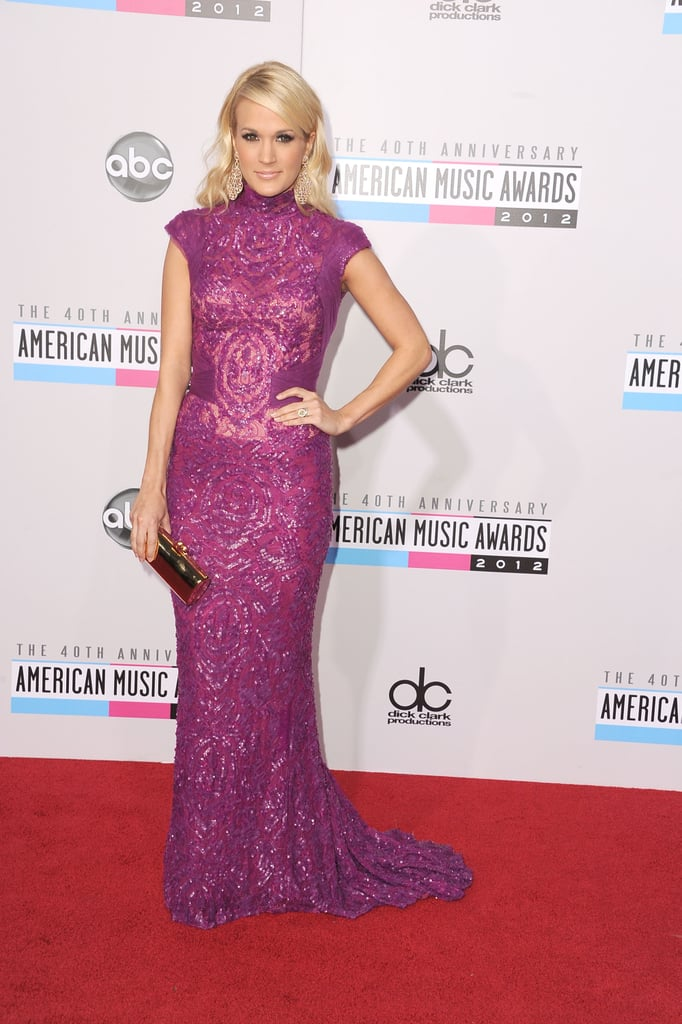 Carrie Underwood Goes Bright For the American Music Awards
