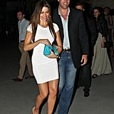 Sofia Vergara and Nick Loeb smiled as they left Bagatelle.