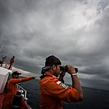 Indonesian search workers looked for any sign of the missing plane in the Andaman Sea on Saturday.