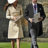 Kate Wearing Her Yellow Coat For Zara Phillips's Wedding, 2011