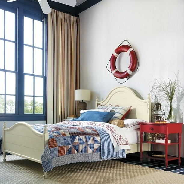 Try replacing art with vintage or found objects like this - Over bed art ideas ...
