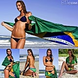 Model Ana Beatriz Barros shared throwback photos from her Sports Illustrated Swimsuit Issue while cheering on the Brazilian team. Source: Instagram user anabbofficial
