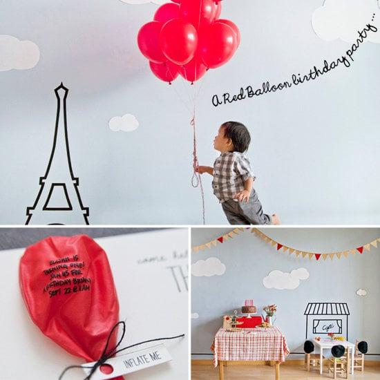 A Parisian Red-Balloon Party
