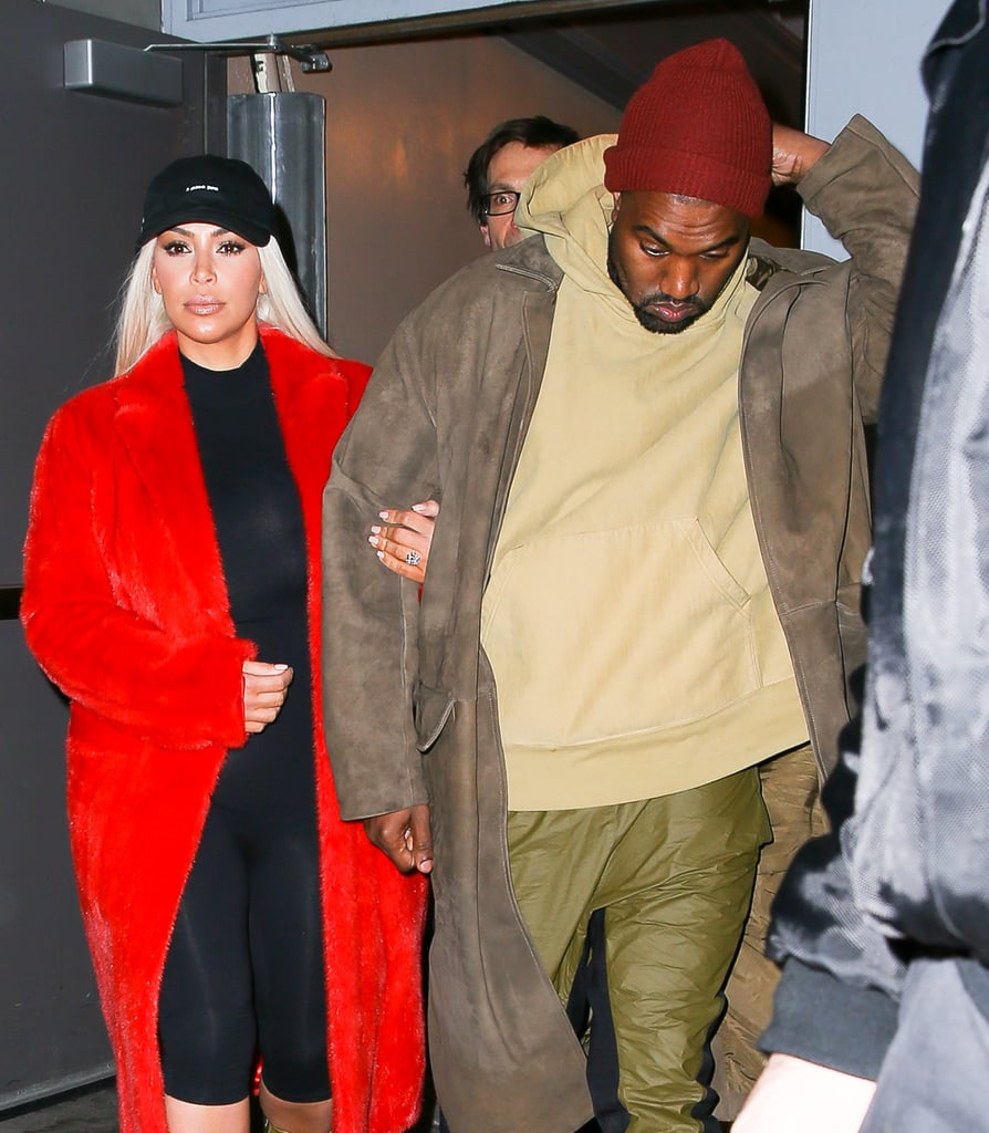 Kim Kardashian and Kanye West took a break from their parental duties and stepped out for a cute Broadway date night in NYC on Friday night. The pair, who recently welcomed their second child together, linked arms as they made their way inside the Richard Rodgers Theatre to check out Hamilton, the musical. It's been an action-packed week for both Kim and Kanye, who held his Yeezy season three presentation and album-listening party as part of New York Fashion Week on Thursday. The Kardashian-Jenner clan appeared at the event, as did Khloé Kardashian's estranged husband, Lamar Odom, who made his first public outing there since he was hospitalized back in October.  During the show, Kanye West found himself in hot water yet again when he debuted a song that contained some offensive lyrics about Taylor Swift. He later took to Twitter and published a series of tweets explaining himself, saying that Kim gave him the OK to write the lyrics and that the lyrics were all Taylor's idea. While Taylor has yet to respond, she is scheduled to take the stage at Monday night's Grammys. Keep reading to see more photos from Kim and Kanye's night out, and then see how other stars are already celebrating Valentine's Day.