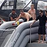 In January 2012, Matt Damon vacationed alongside Chris Hemsworth and friends on a mega yacht in Saint Bart's.