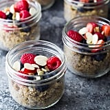 Quinoa with berries and almond slices