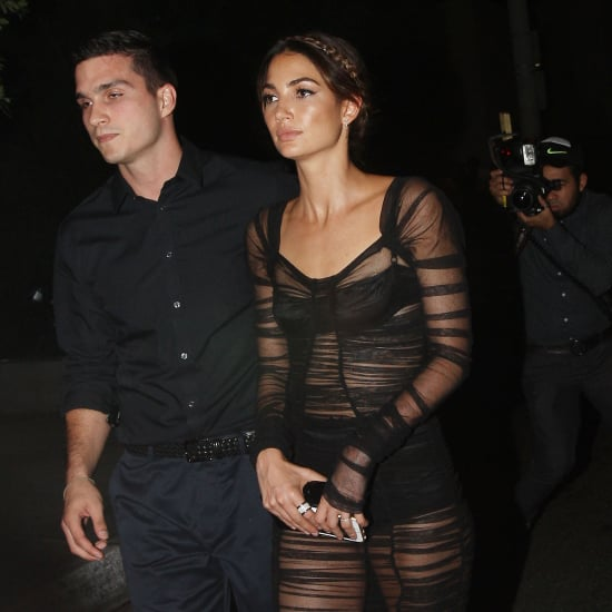 Lily Aldridge Sheer VMAs Afterparty Dress 2015