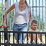 Tom and Gisele Show Love on a Park Date With the Kids