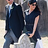 August: Meghan steals the show at Charlie Van Straubenzee's wedding, on the same day as her 37th birthday.