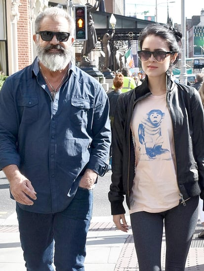 Mel Gibson and Pregnant Girlfriend Rosalind Ross Step Out in Dublin