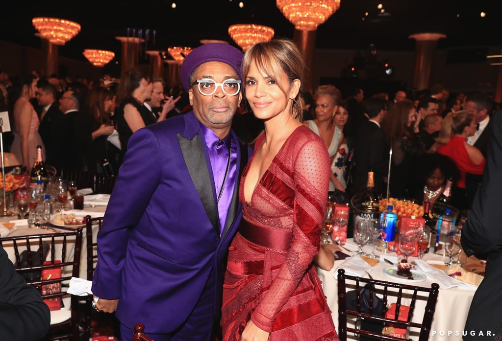 Pictured: Spike Lee and Halle Berry