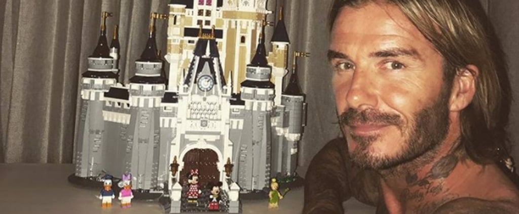 David Beckham Built the Lego Disney Castle in 6 Days and Looks So Damn Proud of Himself