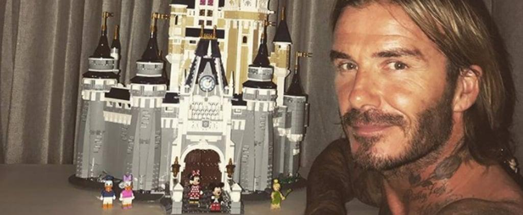 David Beckham Builds Lego Disney Castle