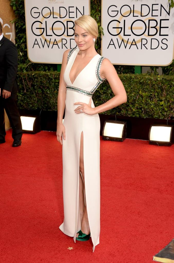 Margot Robbie at the Golden Globes 2014