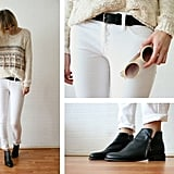 Mix up the white-on-white look with a fringe-infused ivory-hued topper. It'll offer up a more boho feel to your jeans-and-flats combo. Photo courtesy of Lookbook.nu
