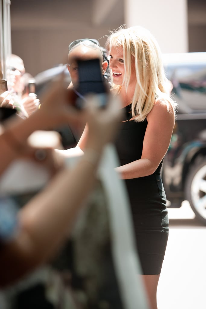 Britney Spears Looks Lovely in a LBD For Her Latest X Factor Appearance
