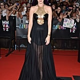 Katy Perry donned purple hair at the MuchMusic Video Awards in Toronto.