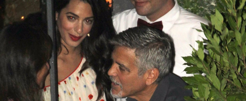 George and Amal Clooney Leave the Twins at Home For a Romantic Date Night in Italy