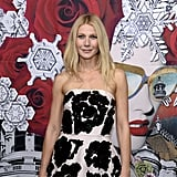 Gwyneth Paltrow helped open the Printemps Christmas windows in Paris.