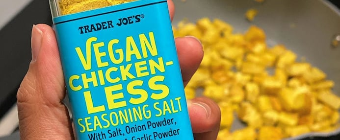 People Are Obsessed With TJ's Vegan Chicken-Less Seasoning
