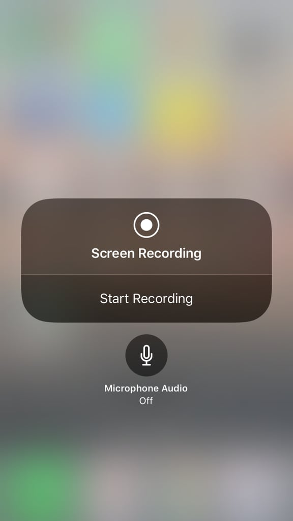 The new screen recording option lets you toggle on or off the microphone audio.
