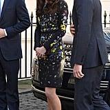 كيت ميدلتون وفستانها المطرز بالورود من إردم في يناير 2017